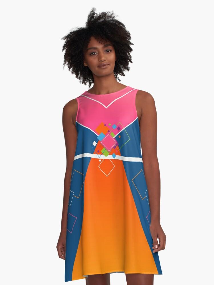 Kristallprinzessin Rosa Orange Blau © hatgirl.de von hatgirldesign