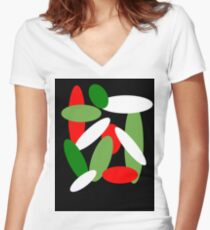 abstACT  Women's Fitted V-Neck T-Shirt