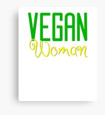 Vegan Woman Canvas Print