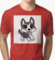pomsky cartoon Tri-blend T-Shirt