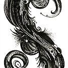 Stratification, Ink Drawing by Danielle Scott