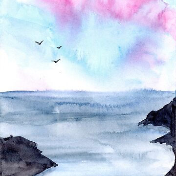 Loose Landscape - Watercolour Painting by patti2905
