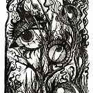 In the Darkness, Ink Drawing by Danielle Scott