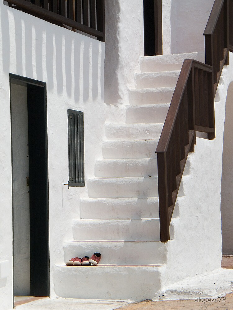 Shoes forgotten in a ladder, Menorca, Spain by alopezc72