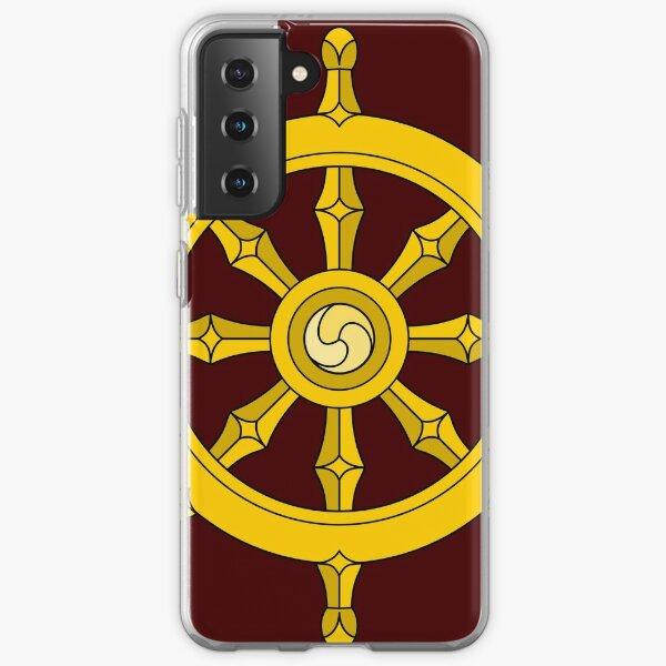 Dharmachakra Buddhism Steering Wheel Samsung Galaxy Soft Case