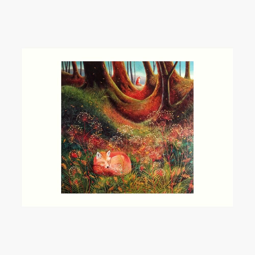 Sleeping Fox (2) Art Print