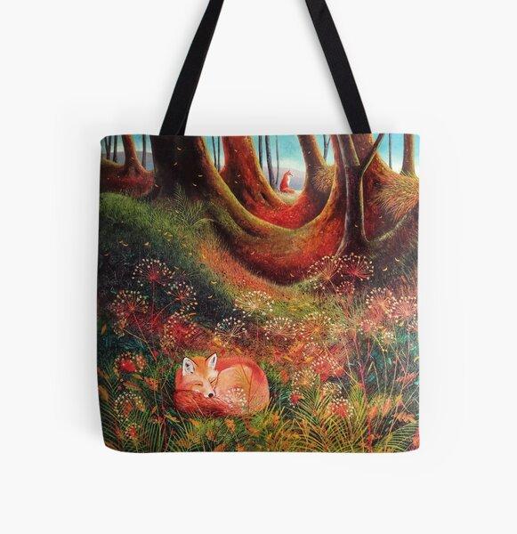 Sleeping Fox (2) All Over Print Tote Bag