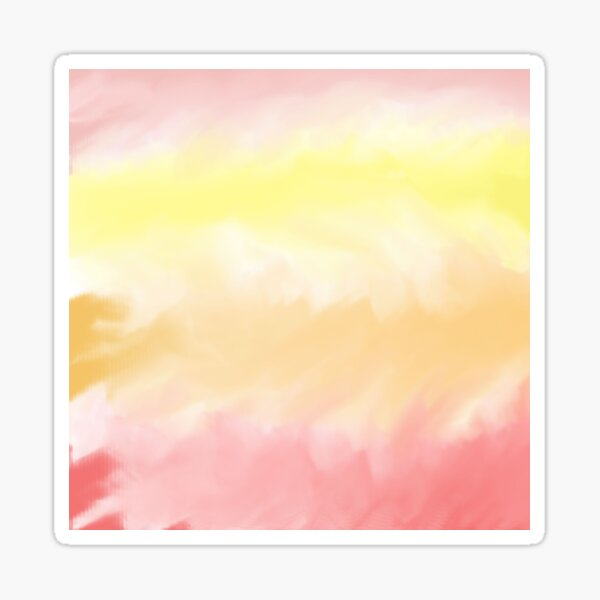 Warm Watercolor Pattern Sticker