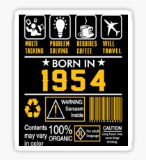 Birthday Gift Ideas - Born In 1954 Sticker