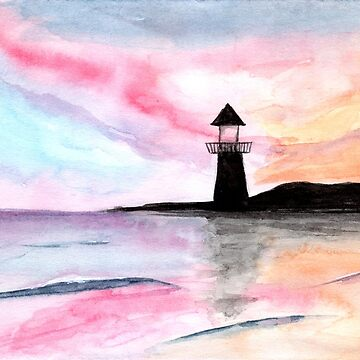 Pastel Sky - Watercolour Painting by patti2905