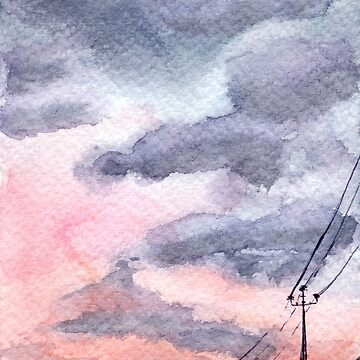 Painted Sky - Watercolour Painting by patti2905