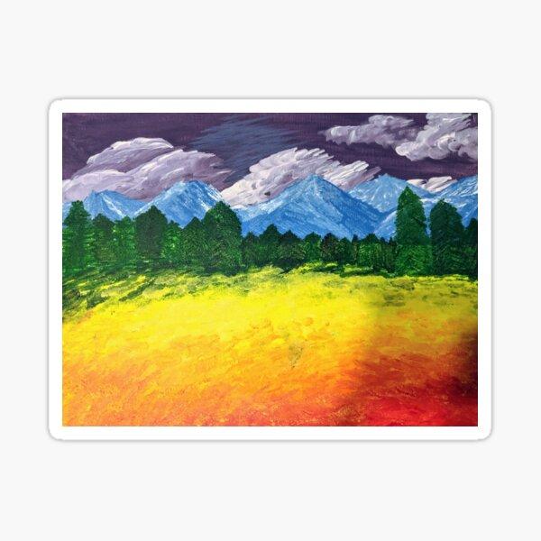 Gay Pride Flag Landscape Sticker