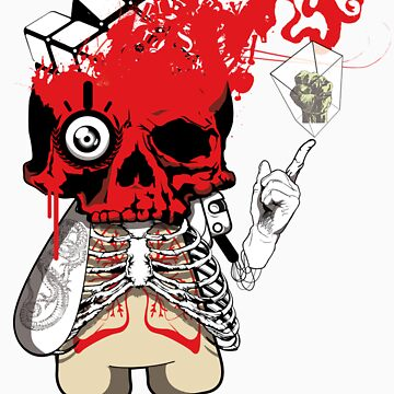 red skull by saburokiyoshi