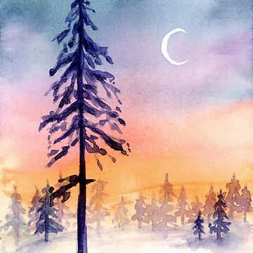 First Snow - Watercolour Painting by patti2905