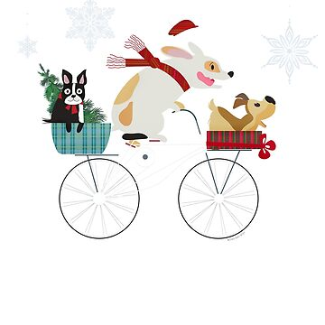 Funny Dog Lovers Dog Days of Christmas Holiday Design by Dibble-Dabble