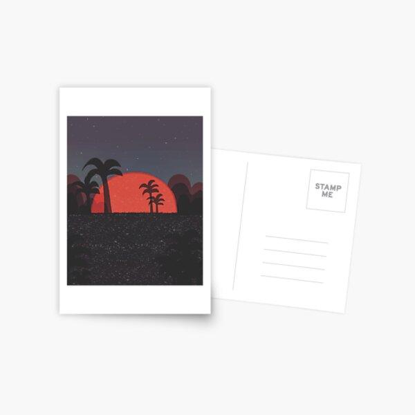 Sunset beach  Postcard
