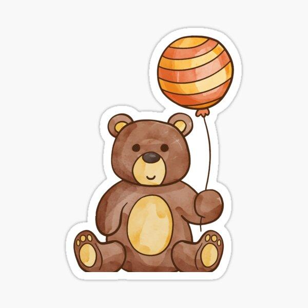Happy Teddy Sticker
