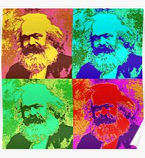 Karl Marx Pop Art Poster
