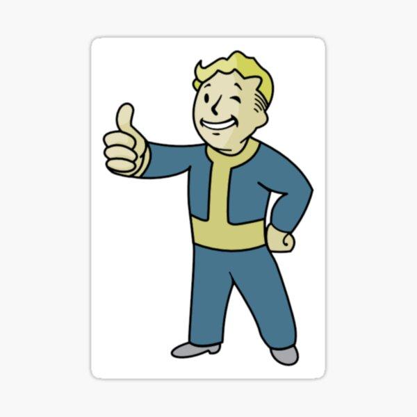 Fall out boy - vault boy - pipboy Sticker