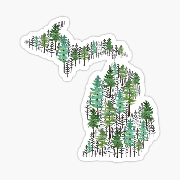 Michigan Forest Sticker