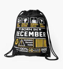 Birthday Gift Ideas - Born In DECEMBER Drawstring Bag