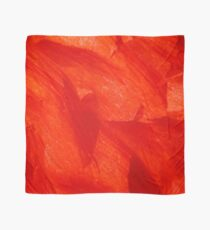 Crumpled Poppy Petal in Red Soft Flake Pattern Scarf