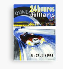 24 Hours of LeMans - 1958 Poster Art Canvas Print