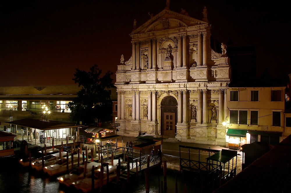 Chiesa degli Scalzi at night by jameswithers