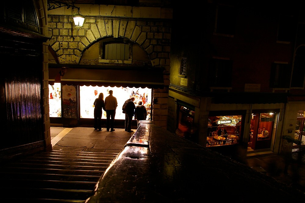 Window shopping from the Rialto at night by jameswithers