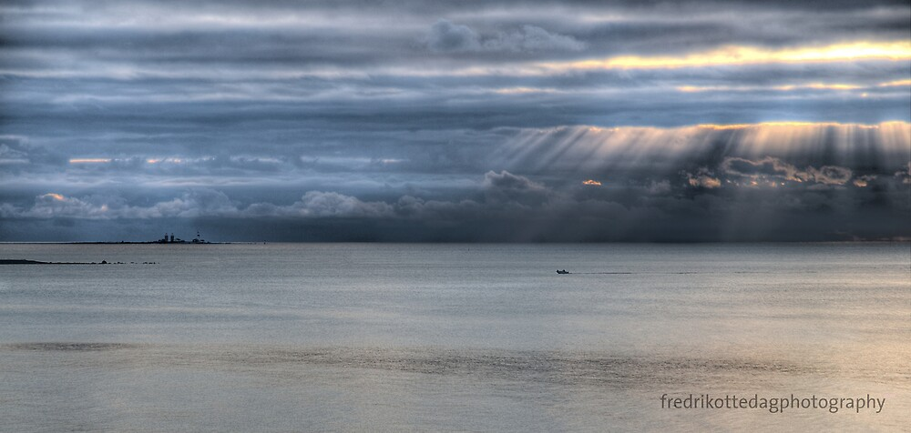 Small Boat Cold Water by Fredrik Ottedag