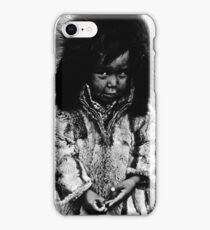USA Alaska eskimo boy 1970s iPhone Case/Skin