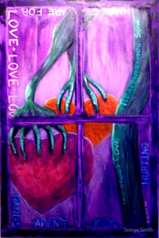 HANDS AREN'T FOR HURTING 2009 - The Flow (Through a window) by Sonya Smith