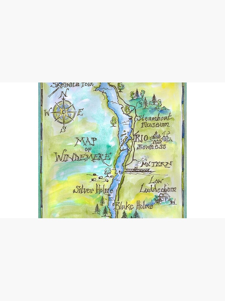 Swallows and Amazons map of Windermere by Sophie Neville by SophieNeville