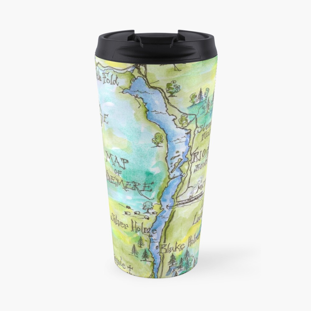 Swallows and Amazons map of Windermere by Sophie Neville Travel Mug