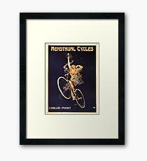 Vintage Bicycle Poster Parody - Menstrual Cycles Framed Print
