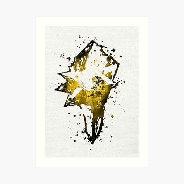 Final Fantasy IX Splatter (Lite) Art Print