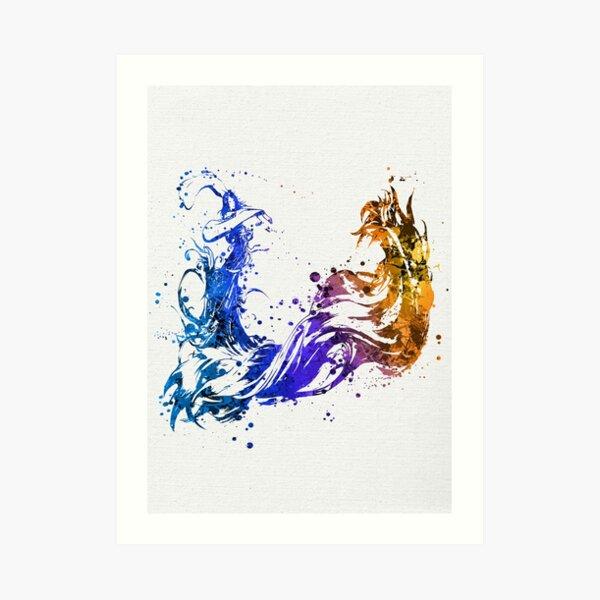 Final Fantasy X Splatter (Lite) Art Print