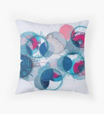 stitched circles Throw Pillow