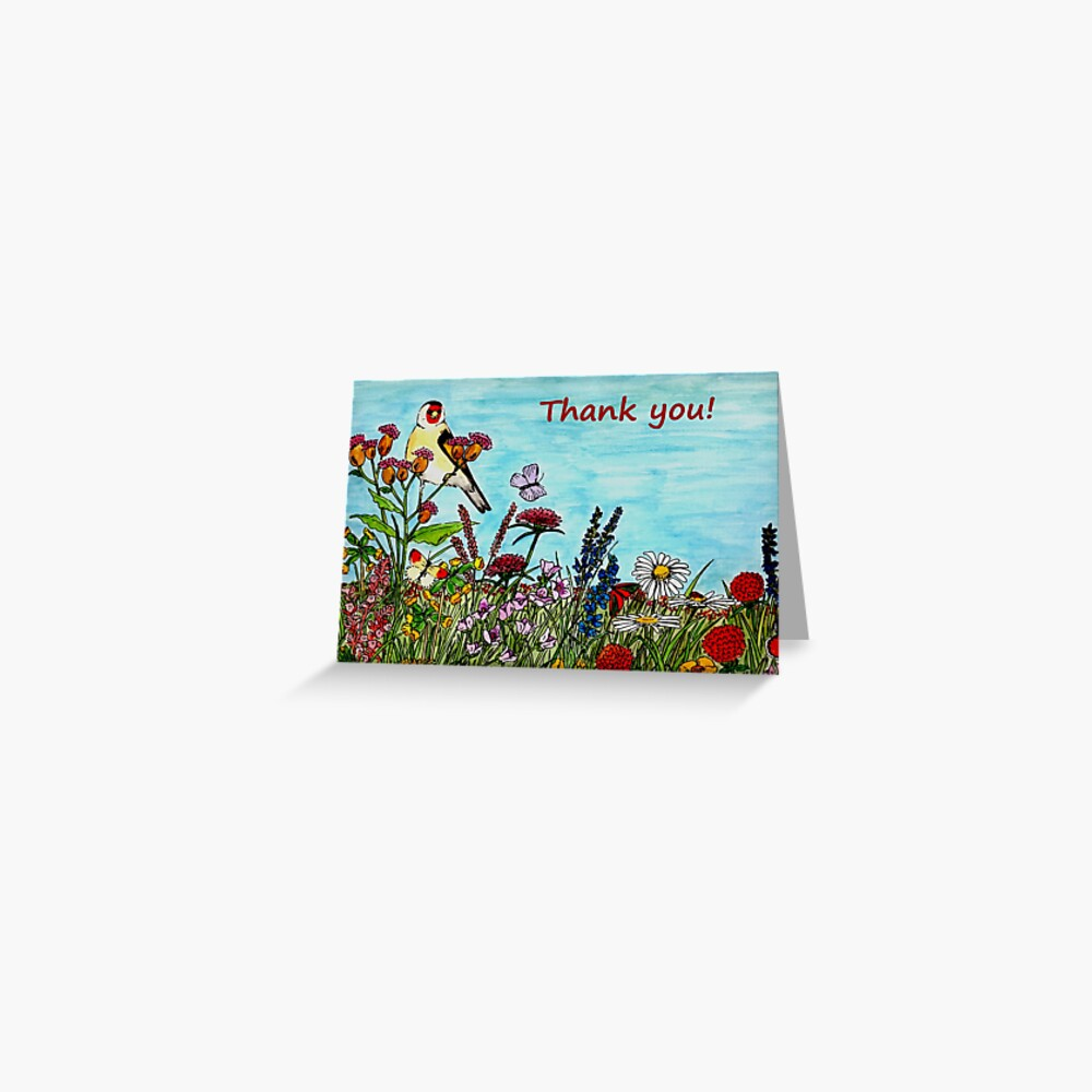 Flower Meadow - Thank You Card Greeting Card