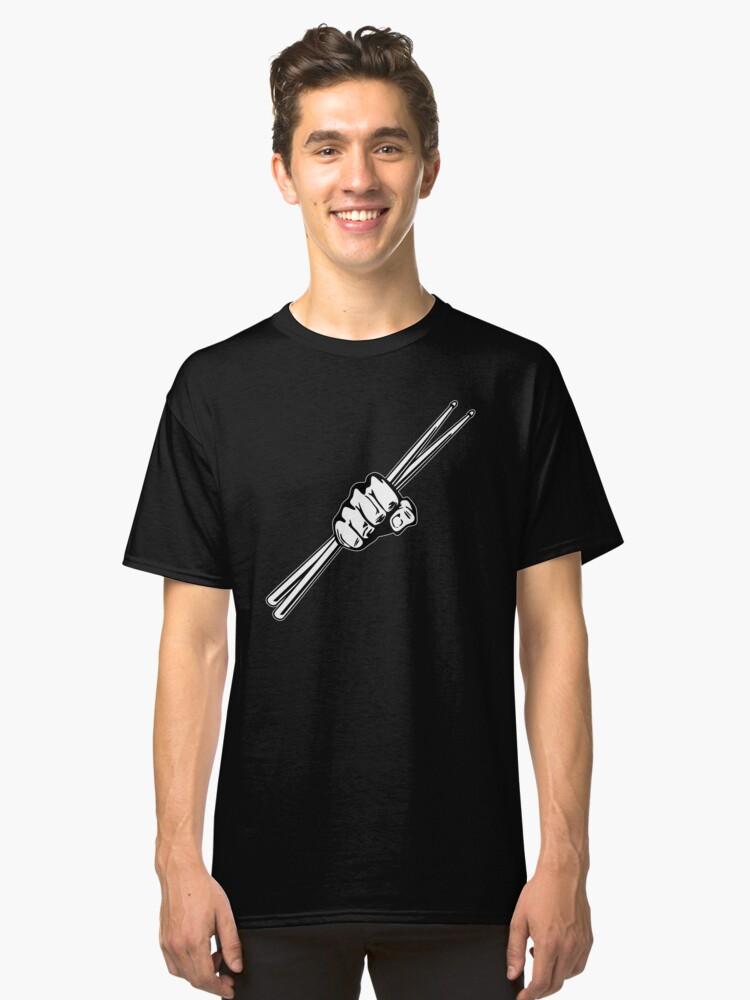Alternate view of Drum Sticks Fist Punch Classic T-Shirt