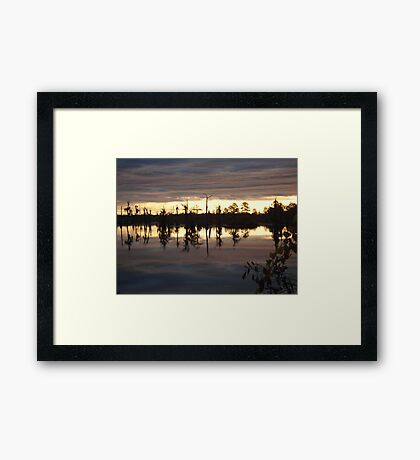Holding Up the Clouds Framed Print
