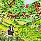 Friendly Faces - Thank You Card by EuniceWilkie