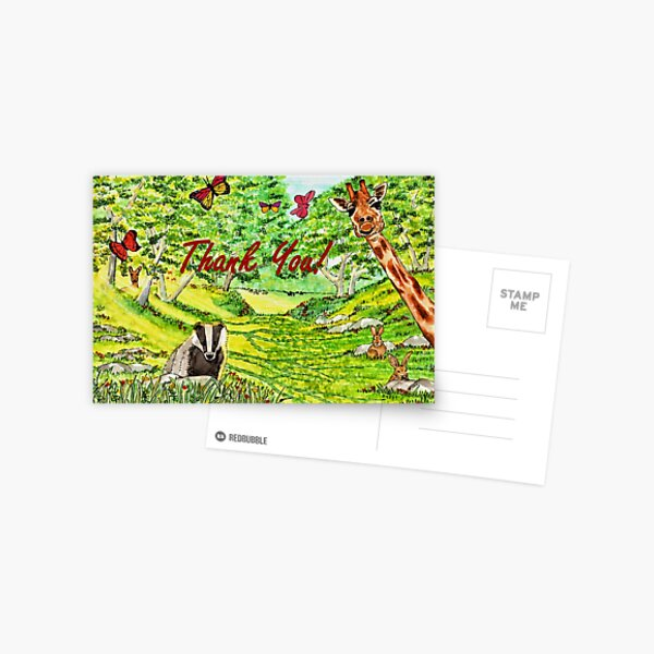 Friendly Faces - Thank You Card Postcard
