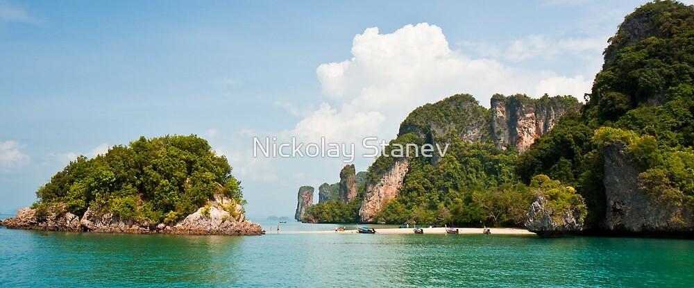 Tropical Island Beach by Nickolay Stanev