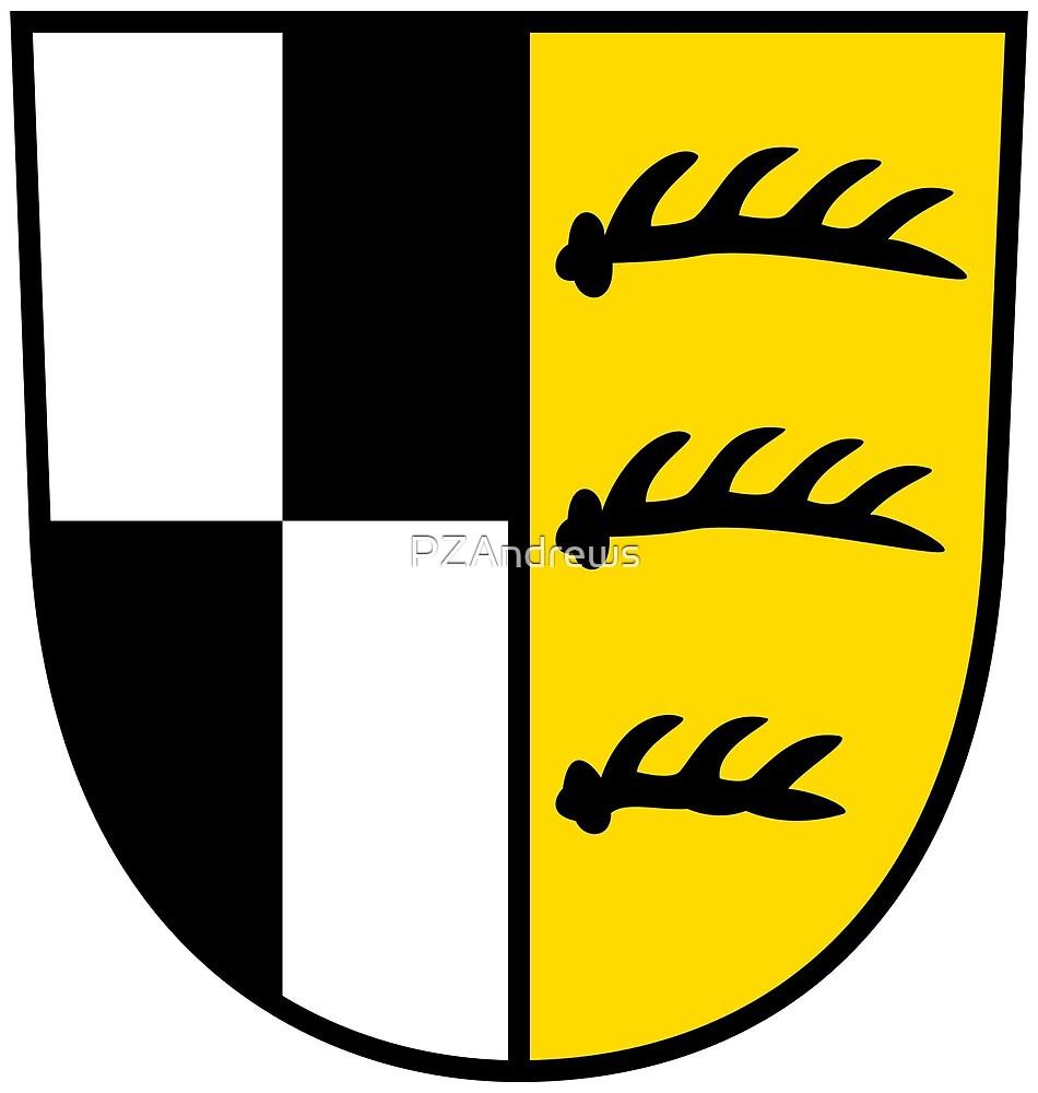 Coat of Arms of Zollernalbkreis, Germany by PZAndrews