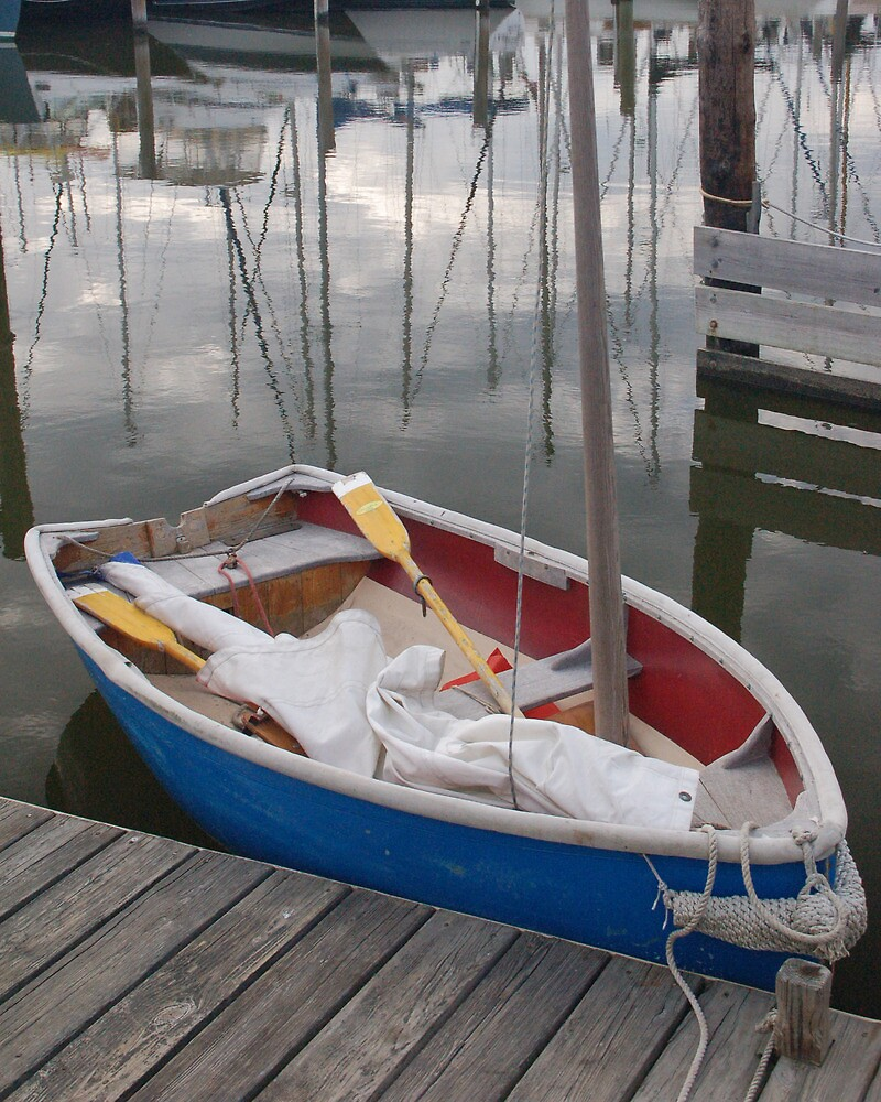 Sailing Dinghy at the Dinghy Dock by Elliot MacDonald