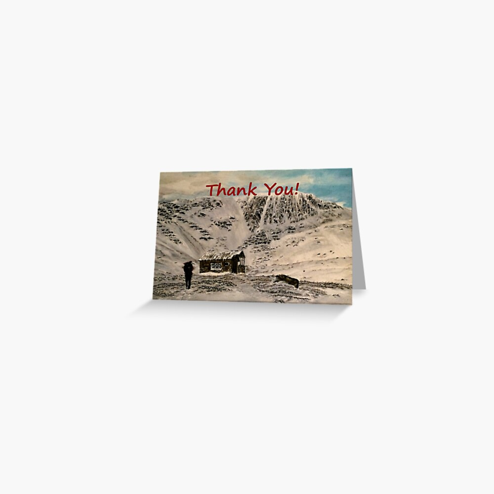 Scottish Mountain - Thank You Card Greeting Card