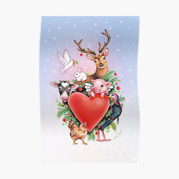 Xmas heart by Maria Tiqwah Poster