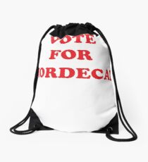 Vote For Mordecai! - Campaign Tee Drawstring Bag