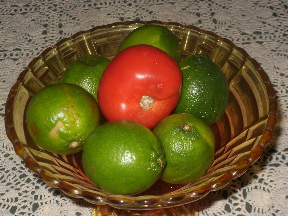Limes and a Tomato by JMH77